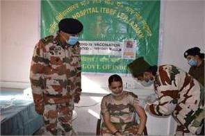 20 itbp personnel in ladakh were vaccinated with kovid 19
