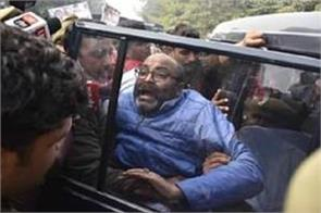 lallu who is going to besiege the raj bhavan taken in custody