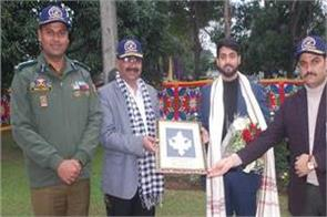 vivek pathak felicitated by dgp in kathua