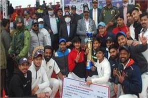 lbs club new delhi won police martyrs tournament