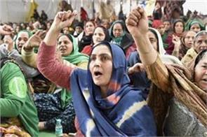 farmers protest farmers  movement led by women in delhi s borders