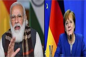 modi talks to german chancellor angela markle discusses covid 19 vaccine