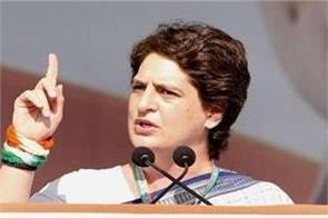 priyanka gandhi targets the center says   traitors  who break the farmers