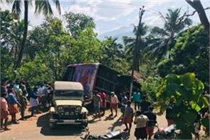 kerala 7 people killed after bus carrying accident