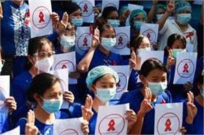 protest towards coup in myanmar intensifies
