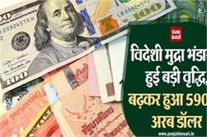 large increase in foreign exchange reserves