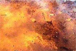 blast in school of north kashmir man injured