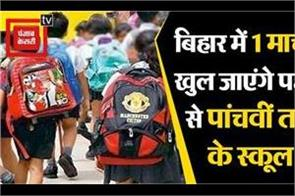 children s schools from 1st to 5th class will open on 1st march