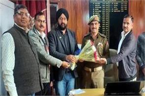 gangyal sho felicitated for arresting lashkar terrorist