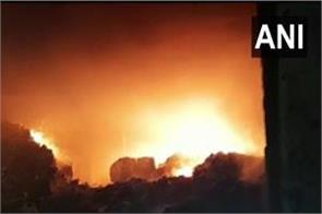 14 fire scorched in ppe kit making factory in ghaziabad