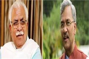 bjp govts in uttarakhand chief minister badal maintains status quo in haryana