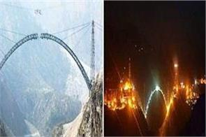construction of world s highest railway bridge will be completed by april