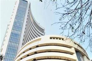 stock market bse closed at red mark nifty reaches below 14800