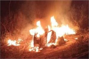 rajasthan army 3 soldiers burnt alive and 5 injured in accident