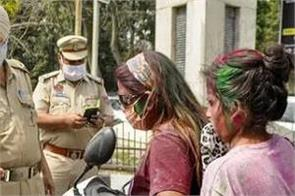 more than 700 people fined for not wearing masks on holi day
