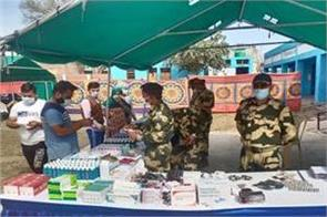 bsf distribute free medicines to people of samba