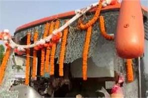 bengal elections unknown people attacked bjp s rath yatra in purulia