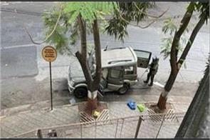 the car in which the explosives were kept outside antilia
