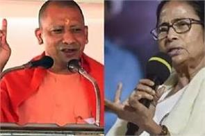 attack of cm yogi  change brought by bjp forced mamta didi to visit temple