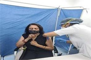 bjp mp and actress hema malini gets the corona vaccine posted on social media