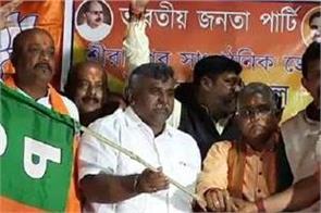 bengal elections  mla jitendra tiwari joins bjp