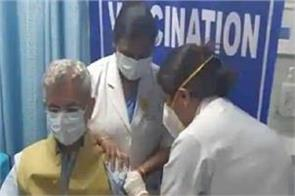foreign minister s jaishankar took dose of covaxin vaccine
