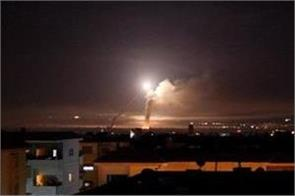 syria reports israeli missile attack near capital damascus