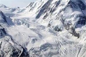broken glacier on the indo china border in uttarakhand