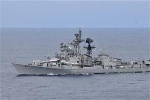 indian navy ship ins ranvijay reached sri lanka on sadbhavana yatra