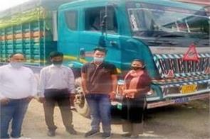 excise department caught truck full of bidi sacks