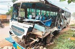 haryana-roadways-bus-collided-with-a-standing-tipper
