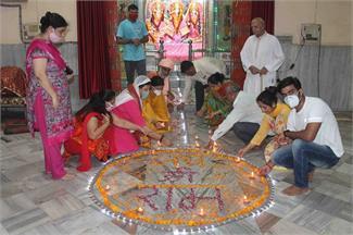 हरियाणा में कुछ यूं मनाई गई श्रीराम मंदिर के भूमिपूजन की खुशी, तस्वीरें
