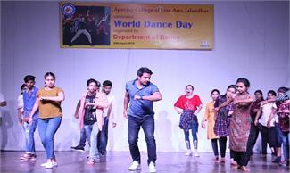एपीजे कॉलेज ऑफ फाइन आर्टस जालंधर में इंटरनैशनल डांस डे पर एक दिवसीय वर्कशाप का आयोजन