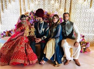 पाक क्रिकेटर हसन अली का हुआ निकाह, दुल्हन के जोड़े में खूबसूरत शामिया, देखें तस्वीरें