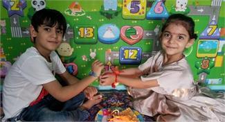 नन्हें मुन्ने बच्चों ने मनाया रक्षाबंधन, बहनों ने बांधी भाई के कलाई पर राखी