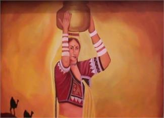 पलवल का महिला थाना, दिवारों पर उभरी सुंदरता