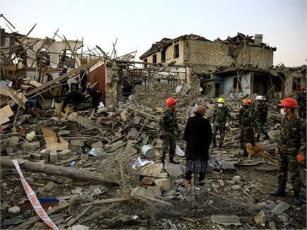 आर्मेनिया और अजरबैजान जंग की दर्दनाक तस्वीरें
