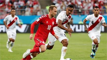 FIFA Worldcup: देखिए डेनमार्क और पेरू के मैच की कुछ तस्वीरें