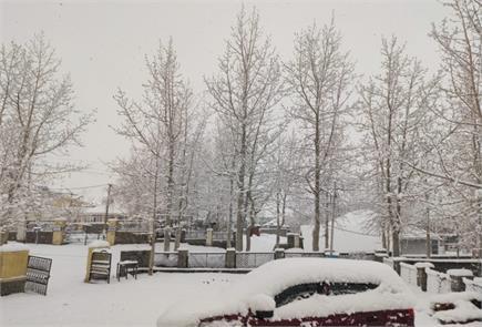 काजा में हुई ताजा बर्फबारी (देखिए PICS)