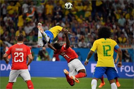FIFA Worldcup: देखें ब्राजील और स्विटजरलैंड के मैच की कुछ तस्वीरें
