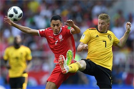 FIFA: देखें बेल्जियम और ट्यूनीशिया के मैच की तस्वीरें
