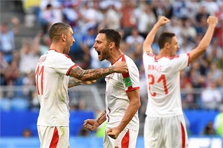 FIFA Worldcup: सर्बिया ने कोस्टा रिका को 1-0 से हराया, देखें तस्वीरें