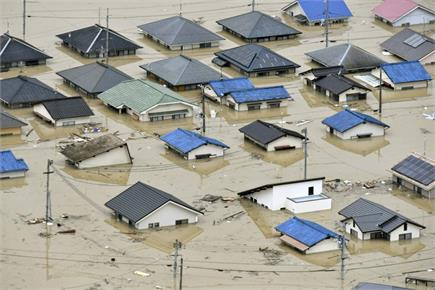 तस्वीरों में देखें बारिश से मची जापान में तबाही