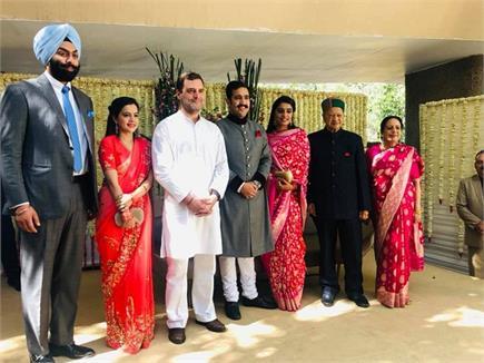दिल्ली में विक्रमादित्य सिंह की रिसेप्शन में पहुंचे राहुल गांधी...