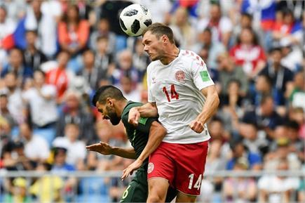 FIFA: डेनमार्क और ऑस्ट्रेलिया के बीच खेला गया ड्रा, देखें तस्वीरें