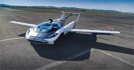 सड़क पर दौड़ते-दौड़ते उड़ने लगी यह फ्लाइंग कार, 200 km/h की है टॉप...