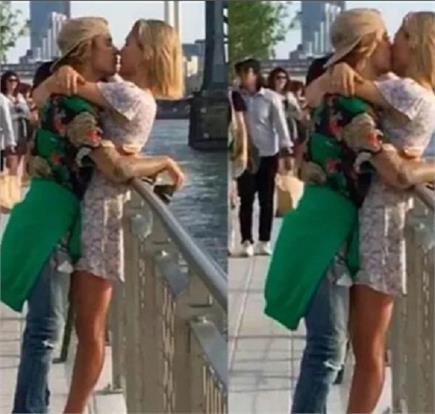 सेलेना गोमेज को नहीं बल्कि इस हसीना को सरेआम KISS करते नजर आए जस्टिन...
