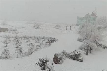 रोहतांग-लाहौल में बर्फबारी ने फिर ओढ़ी बर्फ की सफेद चादर (PICS)