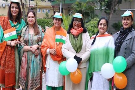 आफिसर्ज वाइव्स ने उत्साह के साथ मनाया गणतंत्र दिवस