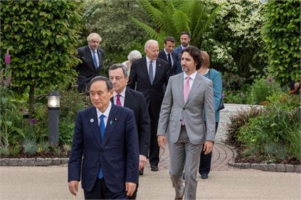 G7 Summit: ब्रिटेन में मिले दुनिया के 7 प्रमुख नेता,  देखें तस्वीरें